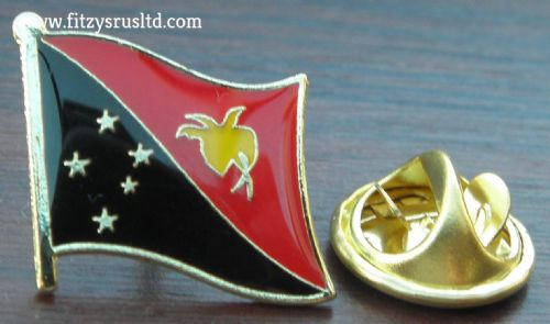 Papua New Guinea Country Flag Lapel Hat Cap Tie Pin Badge PNG Papua Niugini New